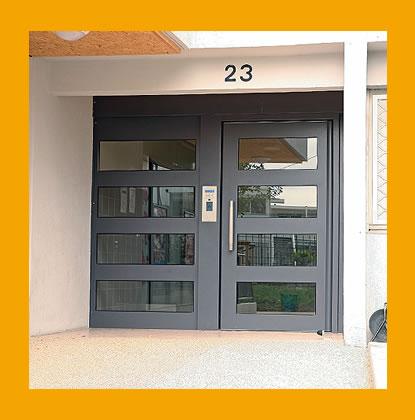 Porte immeuble cibox