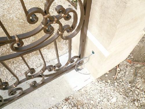 Portail fer forgé aspect rouille deux vantaux drome