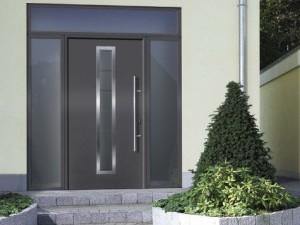 Porte d 39 entr e aluminium thermosafe hormann safelec - Hormann porte d entree ...