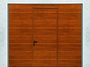 Porte de garage avec portillon sans seuil - Hormann