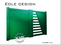 Portail Eole Design en aluminium battant - KSM Production